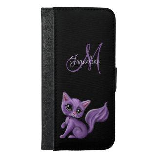 Coque Avec Portefeuille Pour iPhone 6 Plus Monogramme pourpre de Kitty