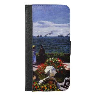 Coque Avec Portefeuille Pour iPhone 6 Plus Terrasse de Claude Monet-The chez Sainte-Adresse