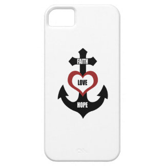 Coque Barely There iPhone 5 Ancre croisée iPhone5 de coeur