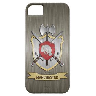 Coque Barely There iPhone 5 Armure de Sigil de crête de bataille de lamantin