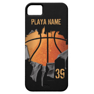 Coque Barely There iPhone 5 Basket-ball déchiré