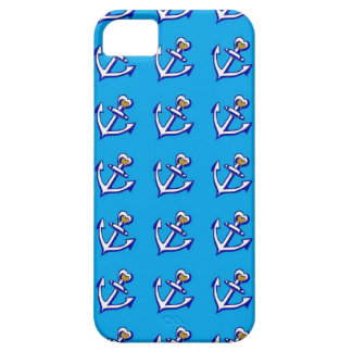 Coque Barely There iPhone 5 Caisse bleue de l'iPhone 5/5s de motif d'ancres