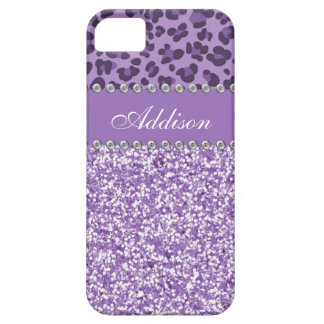Coque Barely There iPhone 5 Caisse Girly de parties scintillantes de fausse