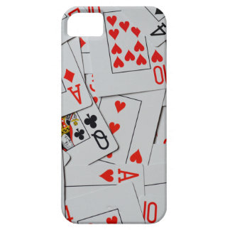 Coque Barely There iPhone 5 Cartes de jeu dispersées par plate-forme,