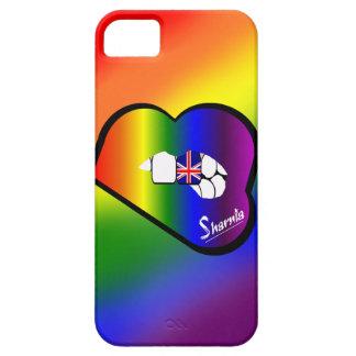 Coque Barely There iPhone 5 Cas BRITANNIQUE de téléphone portable des lèvres