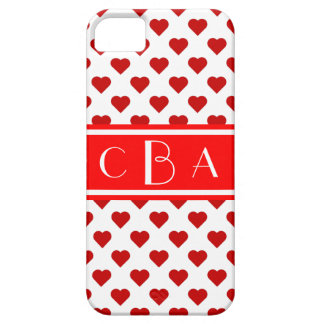 Coque Barely There iPhone 5 Coeurs de monogramme