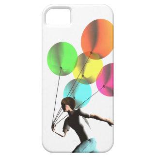 Coque Barely There iPhone 5 Garçon avec des ballons sur un cas de l'iphone 5
