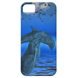 Coque Barely There iPhone 5 iPhone SE + iPhone 5/5S, Barely There: dauphins