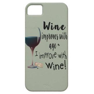 Coque Barely There iPhone 5 Le vin s'améliore avec l'âge que je m'améliore