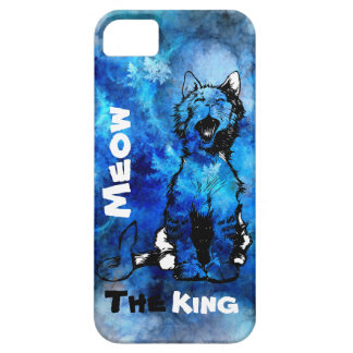 Coque Barely There iPhone 5 Meow d'iPhone le Roi Cat Design