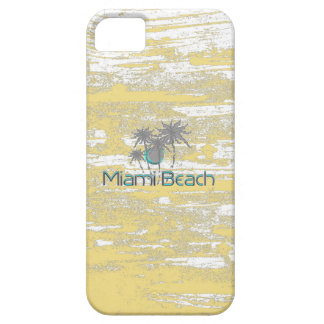 Coque Barely There iPhone 5 Miami Beach, la Floride, paumes, cool de grunge