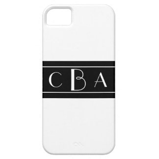 Coque Barely There iPhone 5 Monogramme noir et blanc