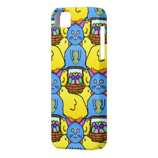 Coque Barely There iPhone 5 Motif drôle de Tessellation de poussins de lapin