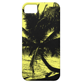 Coque Barely There iPhone 5 Palmiers et eau - jaune
