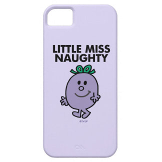 Coque Barely There iPhone 5 Petit lettrage noir de Mlle Naughty |