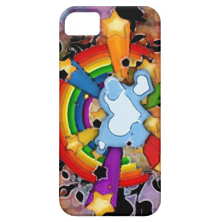 Coque Barely There iPhone 5 Rainbow L huile_iphone5