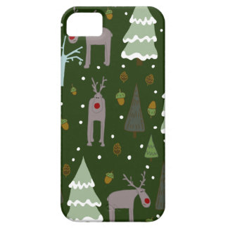 Coque Barely There iPhone 5 Renne d'hiver