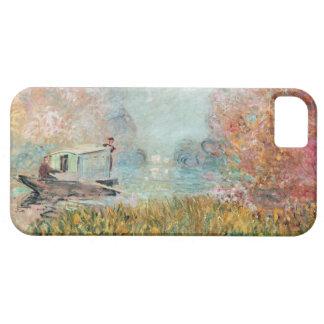 Coque Barely There iPhone 5 Studio de bateau de Claude Monet | sur la Seine