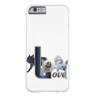 Coque Barely There iPhone 6 Amour de bouledogue français