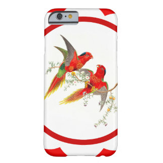 Coque Barely There iPhone 6 Animaux de faune d'oiseaux de perroquet de
