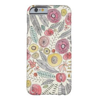 Coque Barely There iPhone 6 aquarelle de fleur de plume