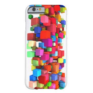 Coque Barely There iPhone 6 Arrière - plan coloré abstrait en rouge, bleu,