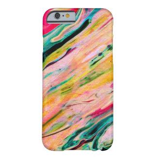 Coque Barely There iPhone 6 Arrière - plan coloré d'aquarelles de traçages