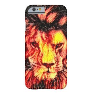 Coque Barely There iPhone 6 Art sauvage d'imaginaire de faune de lion