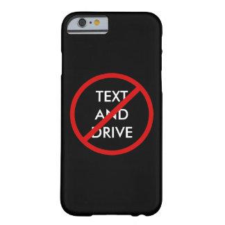 Coque Barely There iPhone 6 Aucun texte et entraînement du message de sécurité