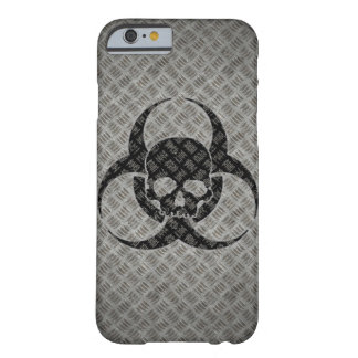 Coque Barely There iPhone 6 Bio symbole grunge de risque sur l'acier