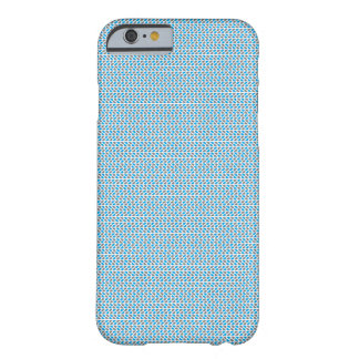 Coque Barely There iPhone 6 bleu et motif gris