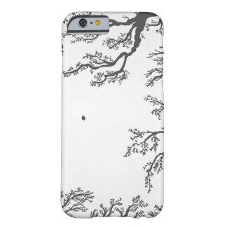 Coque Barely There iPhone 6 branches avec les oiseaux et le feuille sur un lig