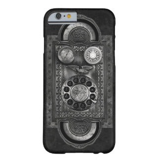 Coque Barely There iPhone 6 Cadran rotatoire de Steampunk, style vintage, gris
