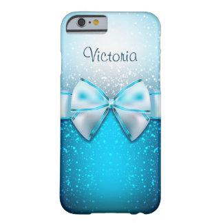 Coque Barely There iPhone 6 Caisse bleue Girly de l'iPhone 6 de vacances de