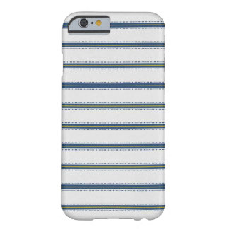 Coque Barely There iPhone 6 Caisse chic de rayure bleue