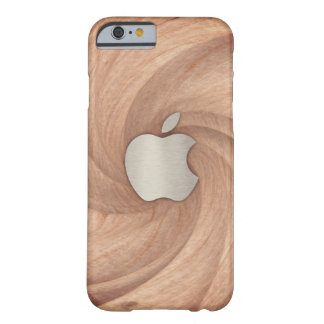 Coque Barely There iPhone 6 Caisse en bois simple tordue