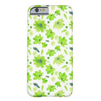 Coque Barely There iPhone 6 Caisse intéressante de fleurs d'aquarelle de