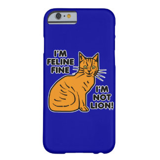 Coque Barely There iPhone 6 Calembour drôle Kitty fin félin orange de chat