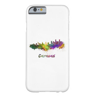 Coque Barely There iPhone 6 Caracas skyline in watercolor