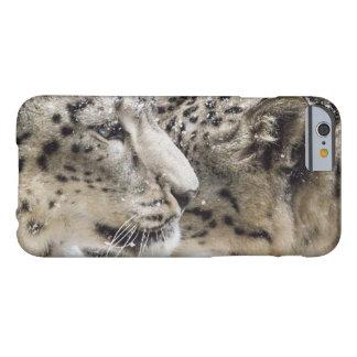 Coque Barely There iPhone 6 Caresse de léopard de neige