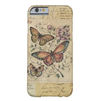 Coque Barely There iPhone 6 Cas de l'iPhone 6/6S d'impression de papillon à