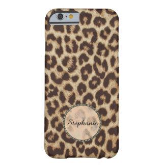 Coque Barely There iPhone 6 Cas de l'iPhone 6 d'Apple d'empreinte de léopard