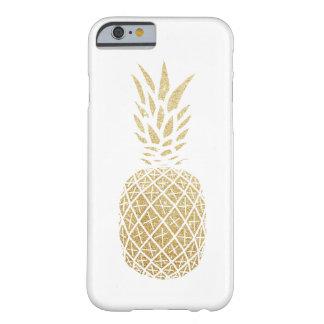 Coque Barely There iPhone 6 Cas de téléphone d'ananas de scintillement d'or