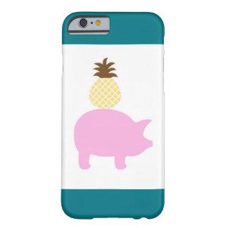 Coque Barely There iPhone 6 Cas de téléphone d'ananas et de porc