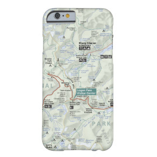 Coque Barely There iPhone 6 Cas de téléphone de carte de glacier (Montana)