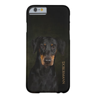 Coque Barely There iPhone 6 Cas de téléphone de Dobermann