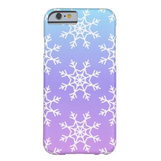 Coque Barely There iPhone 6 Cas de téléphone de flocon de neige d'Ombré