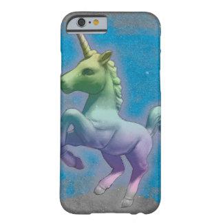 Coque Barely There iPhone 6 Cas de téléphone de licorne (nébuleuse bleue)