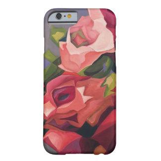 Coque Barely There iPhone 6 Cas de téléphone de rose de résumé