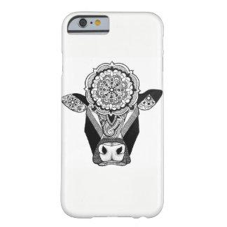 Coque Barely There iPhone 6 Cas de téléphone de vache à mandala